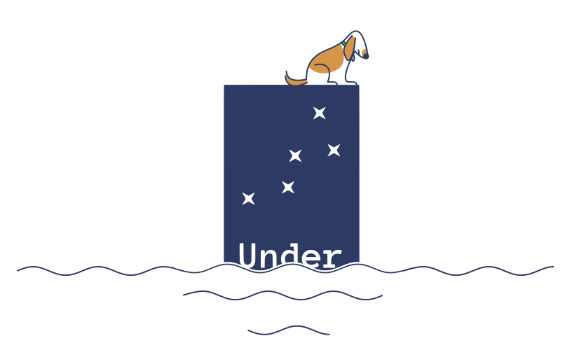 Under Lucky Stars Logo After Sea Level Rise