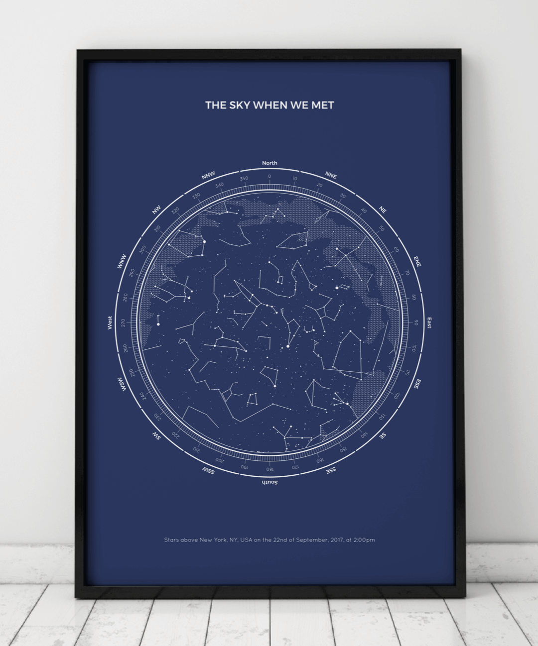 Birthday Star Map.Personalized Star Maps Under Lucky Stars