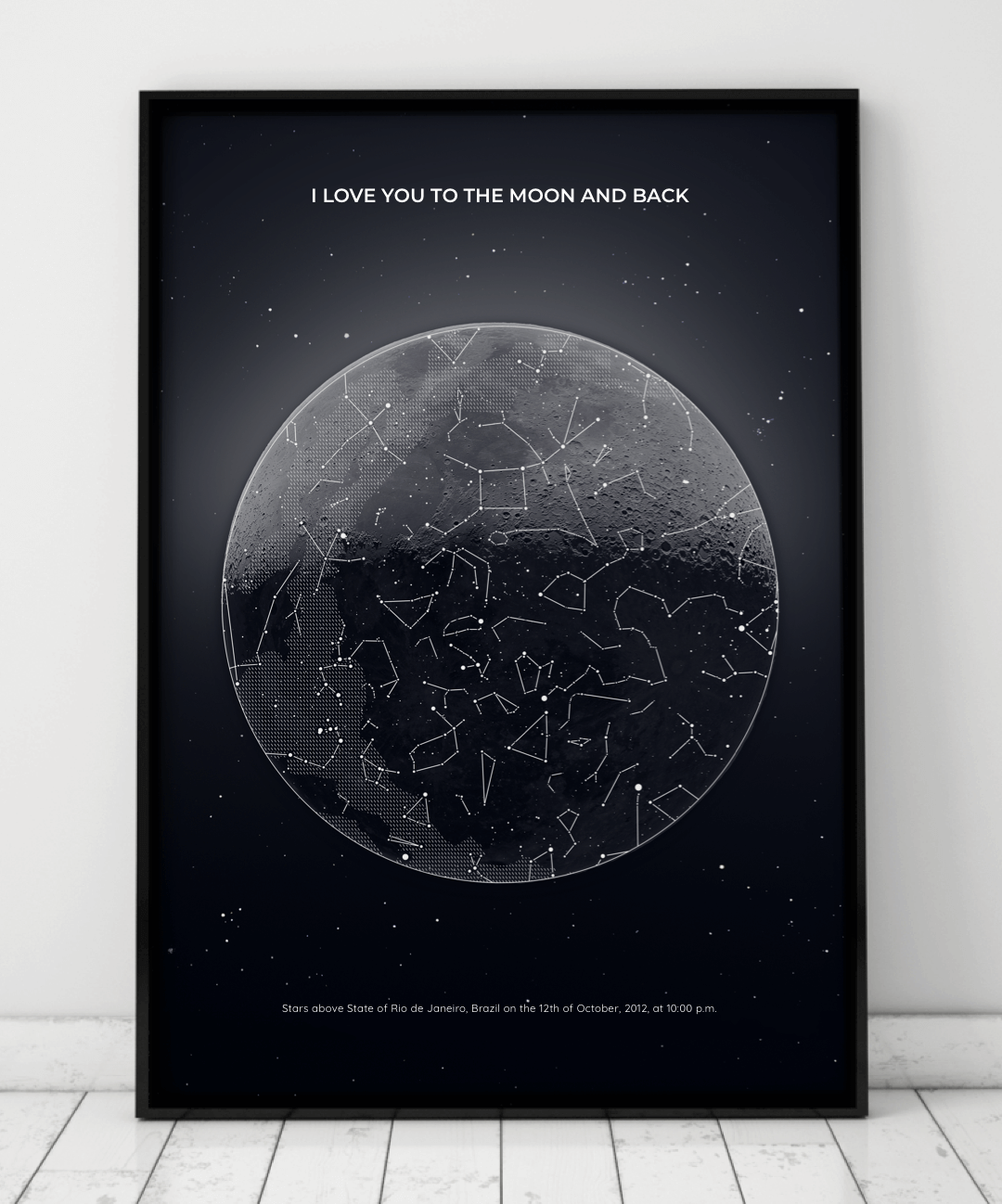 Personalized Star Maps Under Lucky Stars