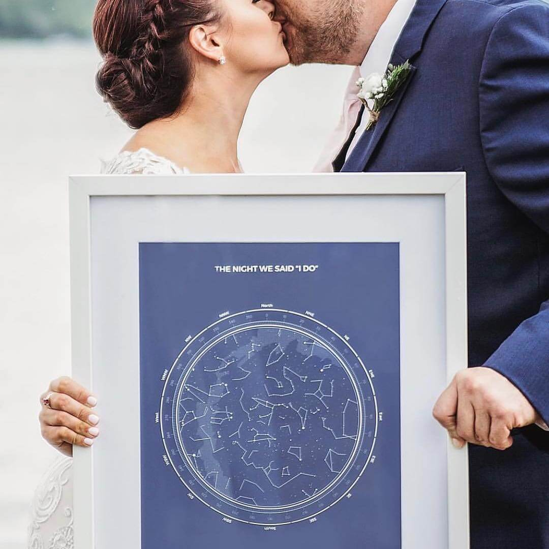 Wedding Star Maps, a memento of the most important day of